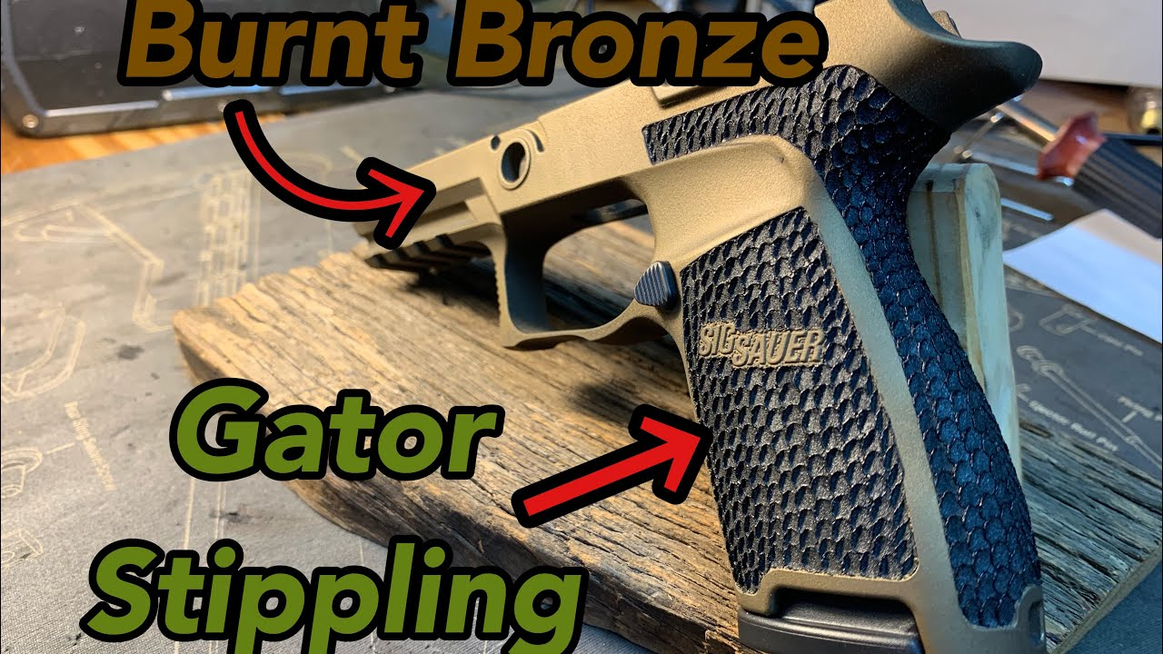 Sig P320 Burnt Bronze Cerakote & Stippling
