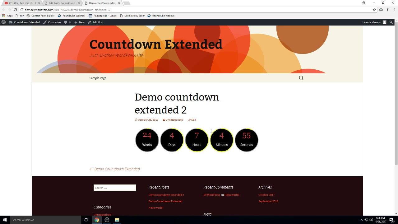 WordPress Countdown Extended Version