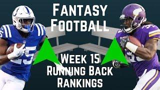 Fantasy Football - Week 15 Running Back Rankings