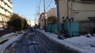 Япония. Снег беспощадно превратил Японию в Россию