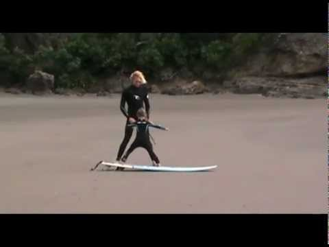 Piha Beach - Surf Lessons For 5 Year Olds.avi