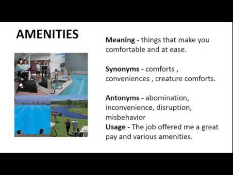 Vocabulary Made Easy Meaning Of Amenities Synonyms