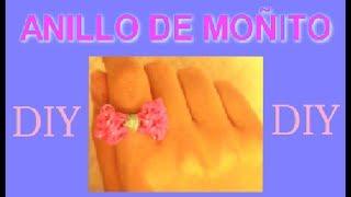 DIY Anillo de moñito con Ligas ¡CON DOS TENEDORES! //anillo de gomitas Thumbnail