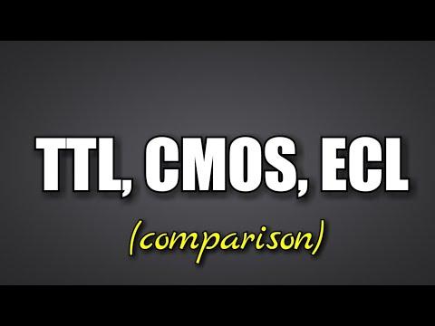 TTL CMOS ECL - comparison