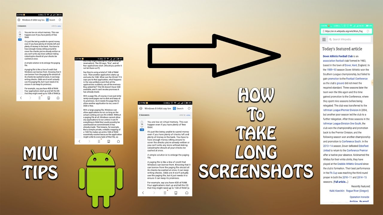 How to take Long Screenshot : ANDROID TIPS
