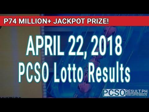 PCSO Lotto Results Today April 22, 2018 (6/58, 6/49, Swertres, STL & EZ2)