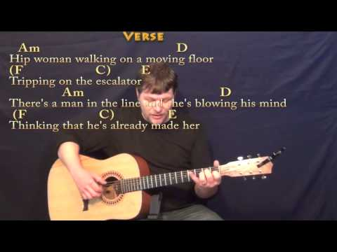 Coming into Los Angeles (Arlo Guthrie) Fingerstyle Guitar Cover Lesson with Chords/Lyrics