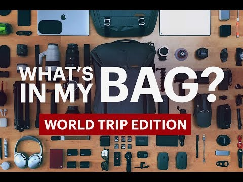 WHAT'S IN MY TRAVEL & CAMERA BAG? (AROUND THE WORLD 2018 EDITION)