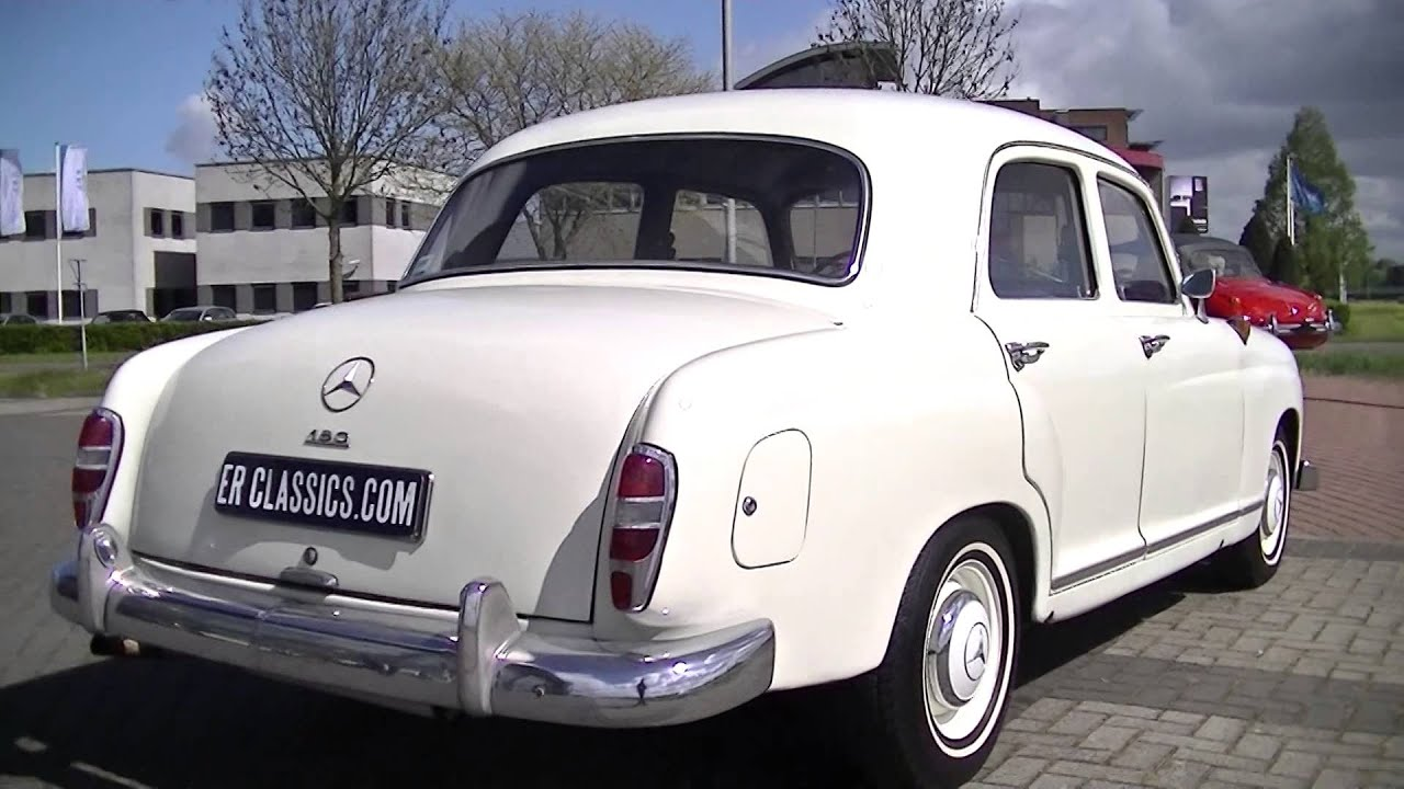 mercedes 180 ponton 1957 video youtube. Black Bedroom Furniture Sets. Home Design Ideas