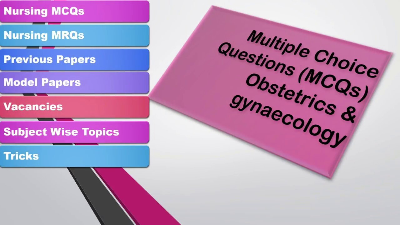 Multiple choice questions MCQs|| Obstetrics and Gynaecology|| Midwifery for  Staff Nurse Exams
