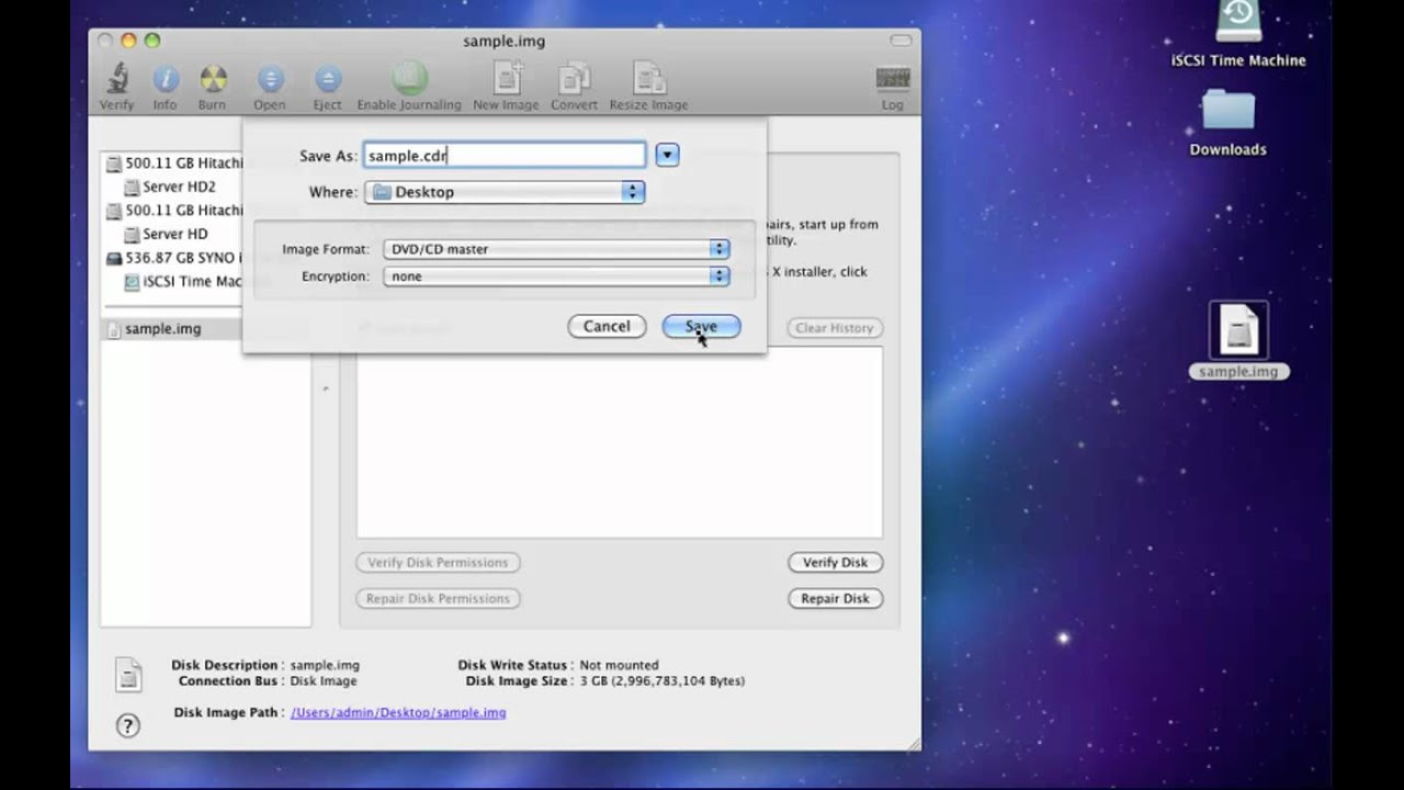 Convert IMG to ISO using Mac OS X Disk Utility