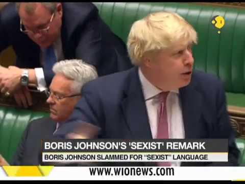 British secretary Boris Johnson slammed for using 'sexist' language