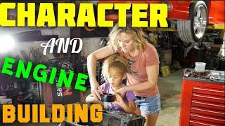 Stroked LS engine build, with great help! In the shop with Emily EP 59