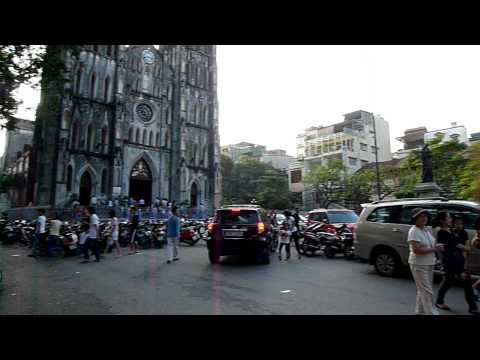 Busy Hanoi Cathedral, Vietnam