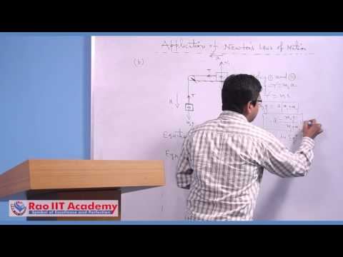 Applications of Newton's Laws of Motion - IIT JEE Main and Advanced Physics Video Lecture [RAO IIT ]