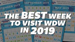 When is the best week to visit Walt Disney World in 2019?