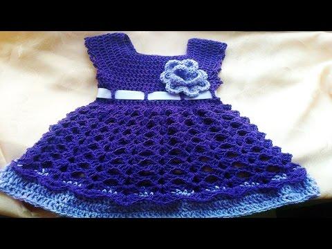 Vestiditos de bebe Tejidos en crochet o Ganchillo ( ideas y diseños ...