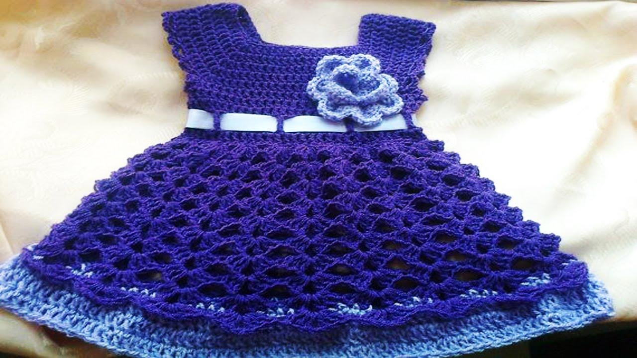 31d9c1242 Vestiditos de bebe Tejidos en crochet o Ganchillo ( ideas y diseños ) -  YouTube