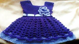 Vestiditos de bebe Tejidos en crochet o Ganchillo ( ideas y diseños ) thumbnail