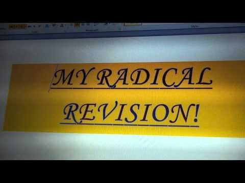 My Radical Revision Clip