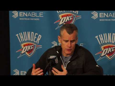3.20.17 Thunder vs Warriors Post Game with Billy Donovan