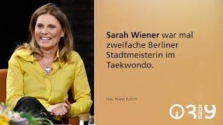 Sarah Wiener über Taekwondo und gesundes Essen für Kinder // 3nach9