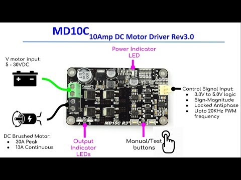 on dc motor sd controller schematic