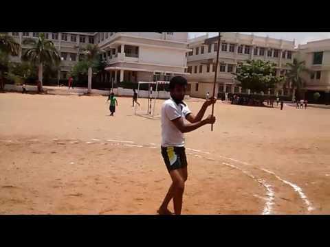 Gokulkrishnan silambam individual in state tournament