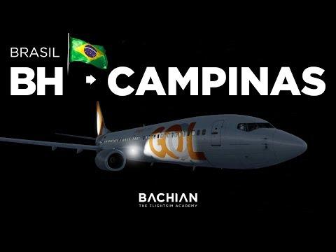 Prepar3D - B737-800 / Belo Horizonte → Campinas