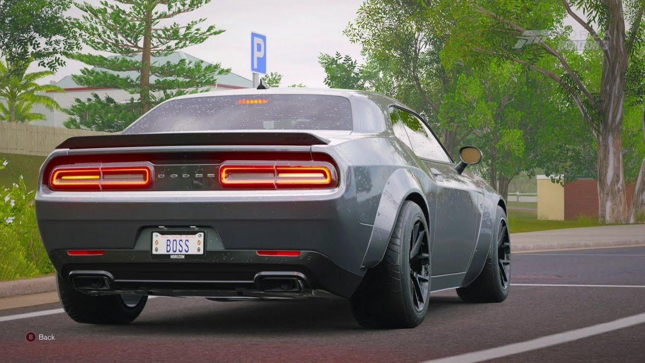 Forza Horizon 3 2016 Widebody Challenger Hellcat Drag Build