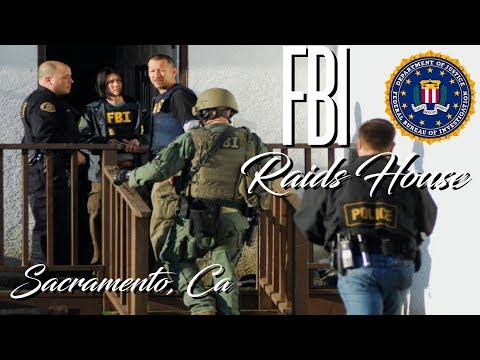 FBI Raids House - Security Camera footage