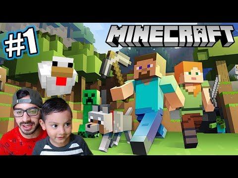 Primera Vez En Minecraft | Mi Casa De Minecraft | Juegos Karim Juega