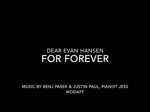 For Forever from Dear Evan Hansen - Piano Accompaniment
