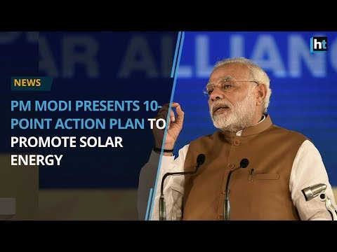PM Modi presents 10-point action plan to promote solar energ