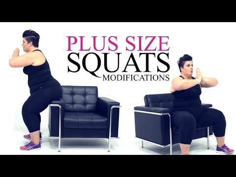 Squat Exercise Modification plus size workout episode 2