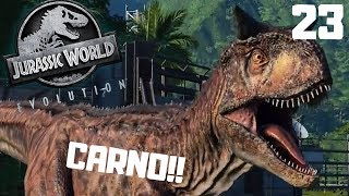 CARNO w Jurassic World Evolution PL #23 Carnotaurus gameplay po polsku