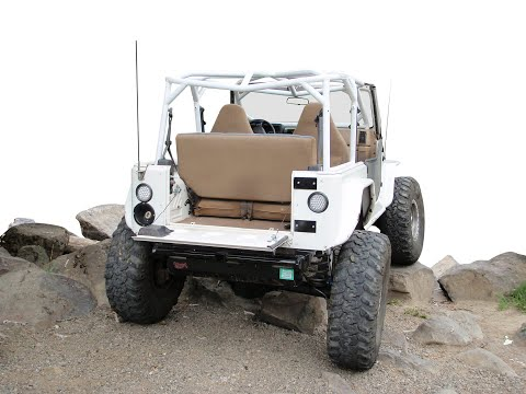 SWAG Off Road Jeep Wrangler YJ Fold Down Tailgate Conversion Kit - YouTubeYouTube