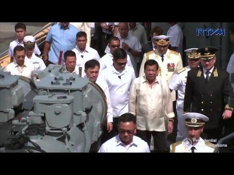 duterte russian warship admiral tributs visit