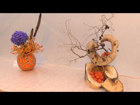 The exhibition of Ikebana in Moscow