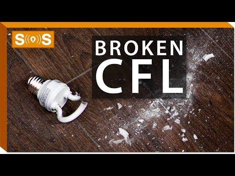 How To Clean Up A Broken CFL | Spec. Sense
