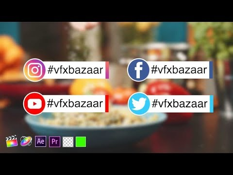 Social Media Lower Third V.4 | Download Free Templates - VFX Bazaar