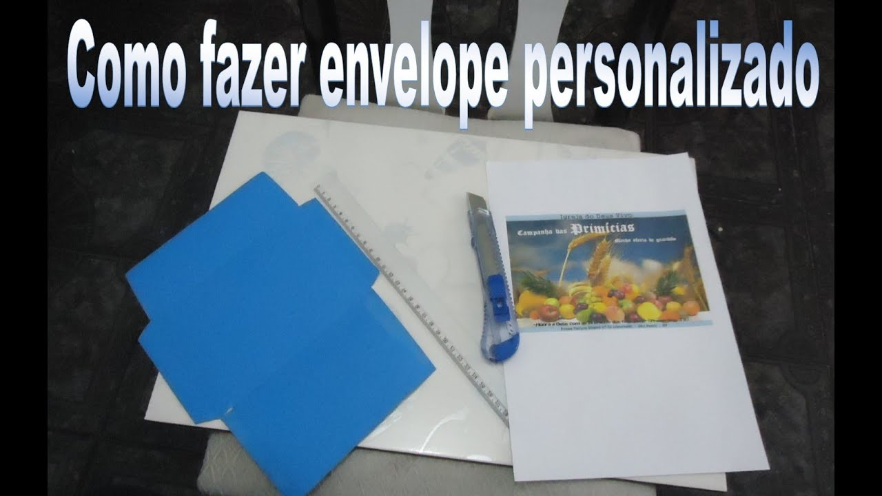 como fazer um envelope personalizado