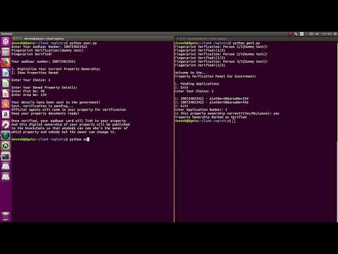 land Registry System Using BlockChain