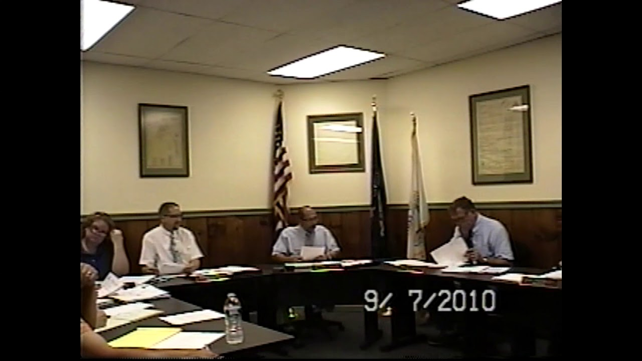 Champlain Village Board Meeting  9-7-10