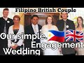 Our very SIMPLE ENGAGEMENT NIGHT & WEDDING DAY | Interracial Couple | Interracial Marriage |