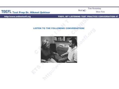 Toefl Ibt Test Online Hazırlık Kursu Conversation 47
