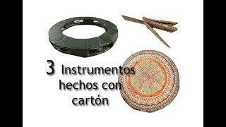 3 INSTRUMENTOS MUSICALES CON CARTÓN