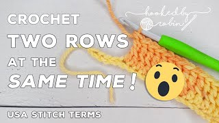 Crochet 2 rows at the SAME TIME! 😱| Crochet Tips & Techniques | Crochet hack