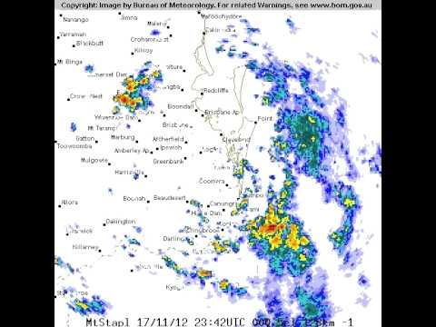 Brisbane Super Storm Shaz 128 km Radar 17, 18 November 2012