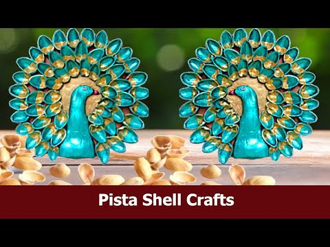 Room Decor Made out of Pista Shell/ DIY Peacock For Home Decor Idea Craft By Aloha Crafts